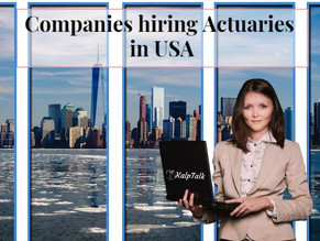 Companies hiring Actuaries in USA