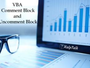 VBA Comment Block and Uncomment Block