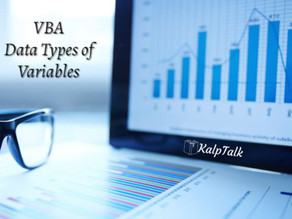 VBA Data Types of Variables