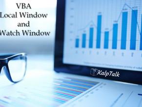 VBA Local Window and Watch Window