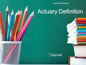 Actuary Definition