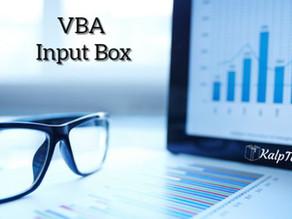 VBA Input Box
