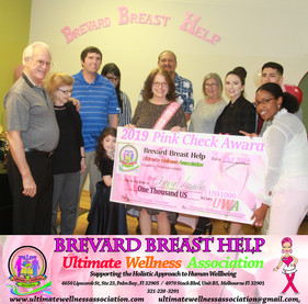 Brevard Breast Help 2019 Pink Check Award