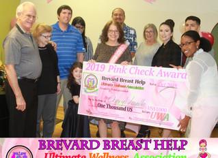 Brevard Breast Help 2019 Pink Check Award