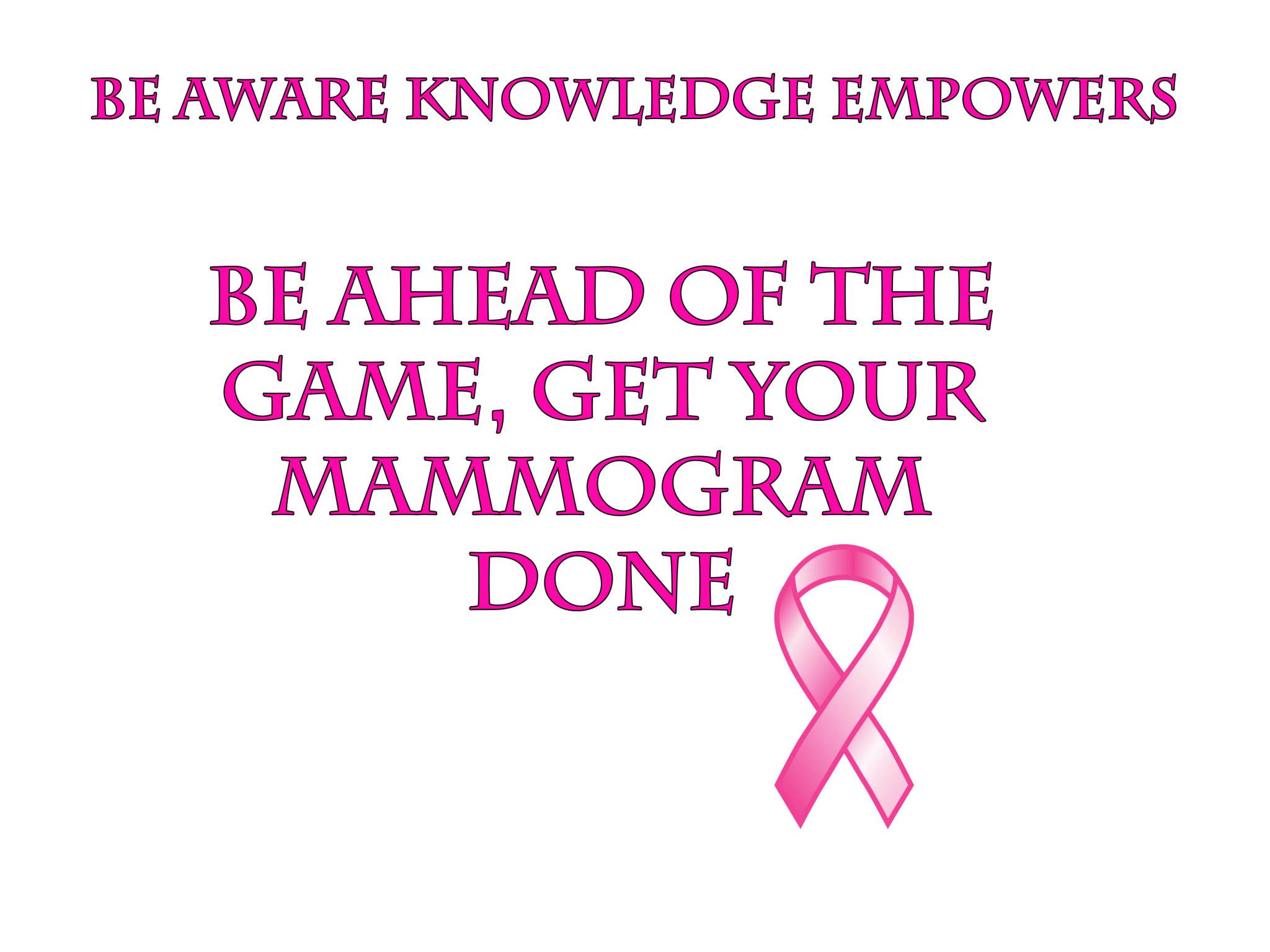 Get your Mammogram - Breast Cancer