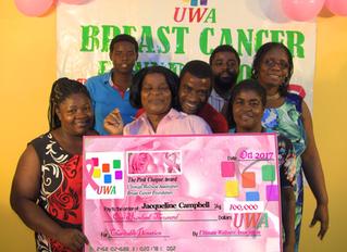 2017 UWA BREAST CANCER JA$100,000 PINK CHEQUE AWARD