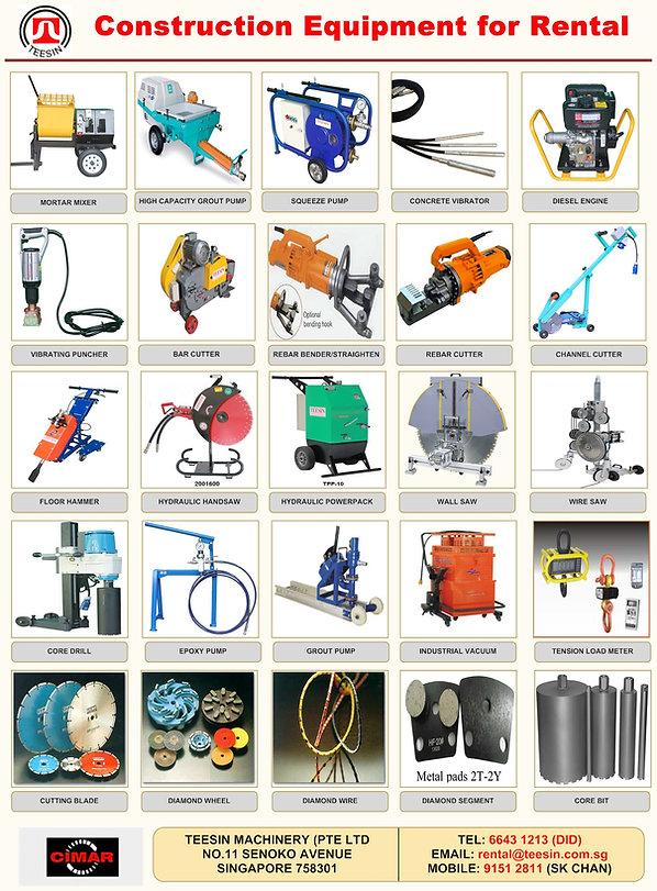 Construction Equipment for Rental