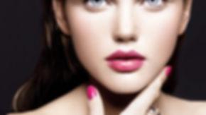 Kirsche rosa Lippen