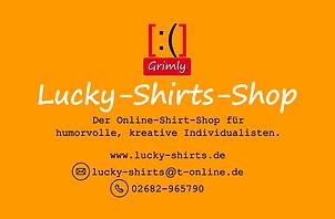 Grimly, Visitenkarte, Lucky-Shirts-Shop / Anja Schramm & Grimly