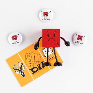 Lucky-Shirts-Shop / Anja Schramm & Grimly, Grimly, Magnetwandpin-Grimly