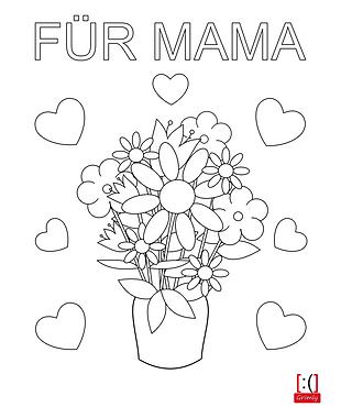 Muttertagsbild ( Blumenstrauß ) zum Ausmalen vom Lucky-Shirts-Shop, kostenlos auf www.lucky-shirts.de downloaden - Anja Schramm