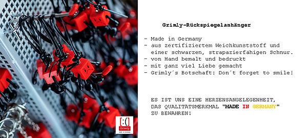 Grimly-Rückspiegelanhänger,Made in Germany,Anja Schramm,Lucky-Shirts-Shop,Grimly