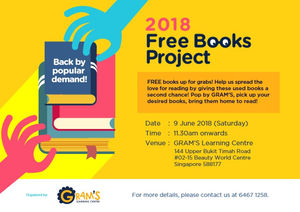 May 2018 Book Donation Drive For Free Books Project