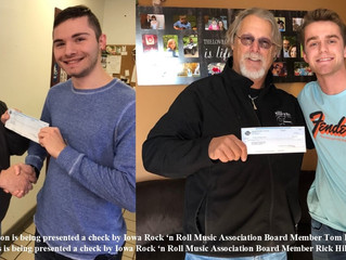 Wiggins and Johnson Receive Scholarships from Iowa Rock 'n Roll