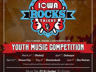 Iowa Rocks Talent 2019 Announced