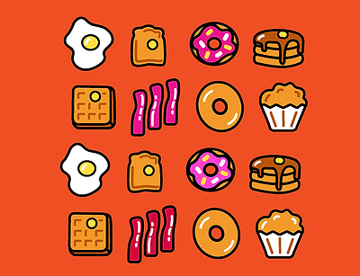 Different color options for the icon set.