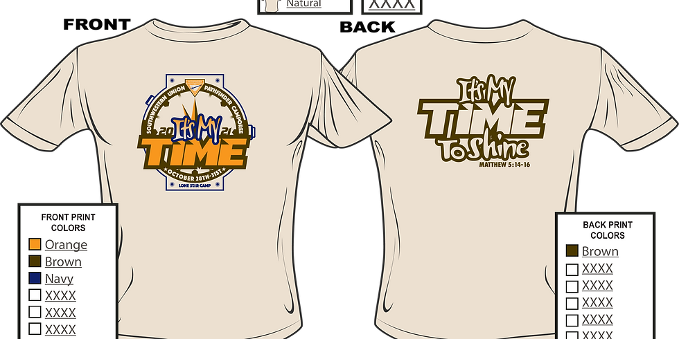 It's My Time Union Pathfinder Camporee T-shirt Order Form