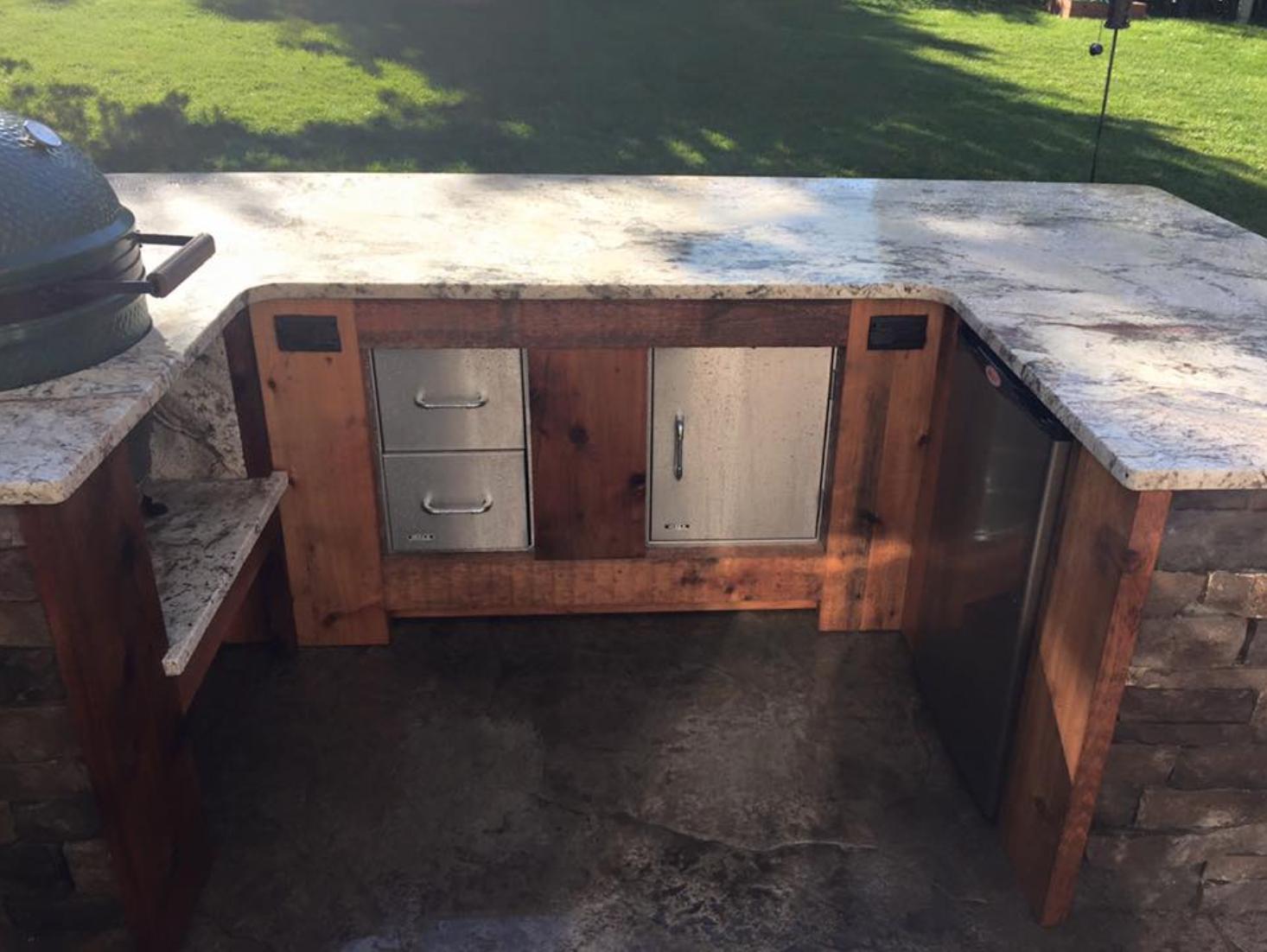 Custom patio kitchen area