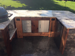 Custom patio kitchen area