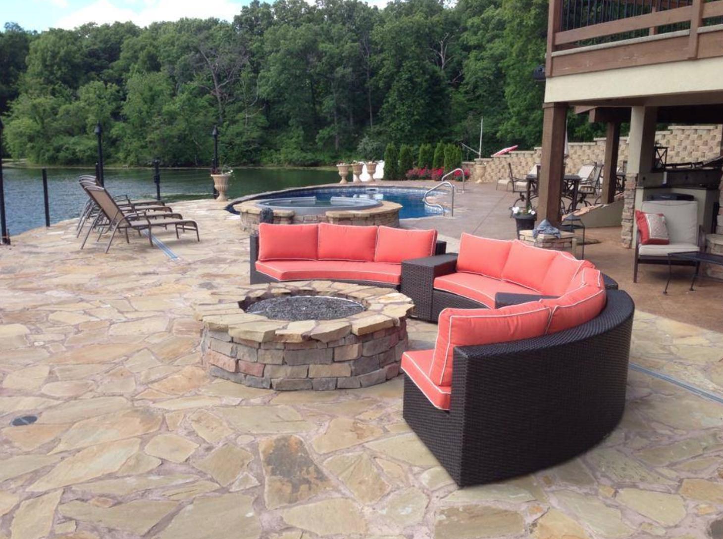 Custom pool patio