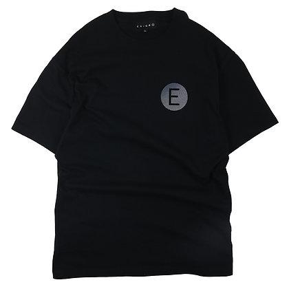 E LOGO T-SHIRT【BLACK】