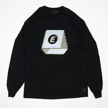 TYPEWRITER NOISE L/S T-SHIRT【BLACK】