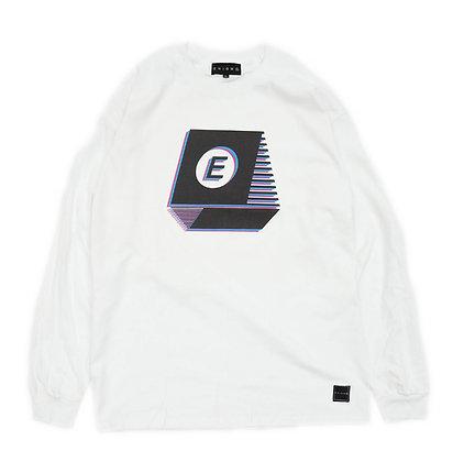 TYPEWRITER NOISE L/S T-SHIRT【WHITE】