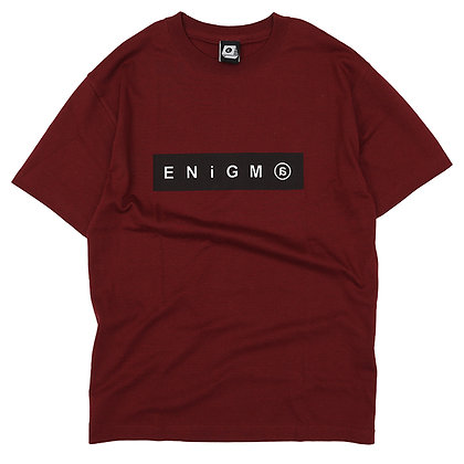 ENiGM@ - BOX LOGO T-SHIRT 【BURGUNDY】