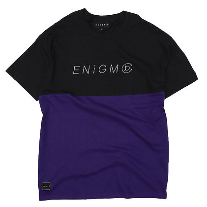 ITALIC LOGO 2FACE T-SHIRT【BLACK/PURPLE】