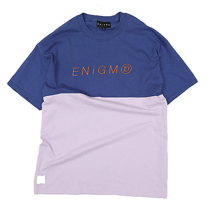 ITALIC LOGO 2FACE T-SHIRT【METRO BLUE/ORCHID】