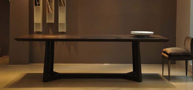 Mesa flexform madera oscura