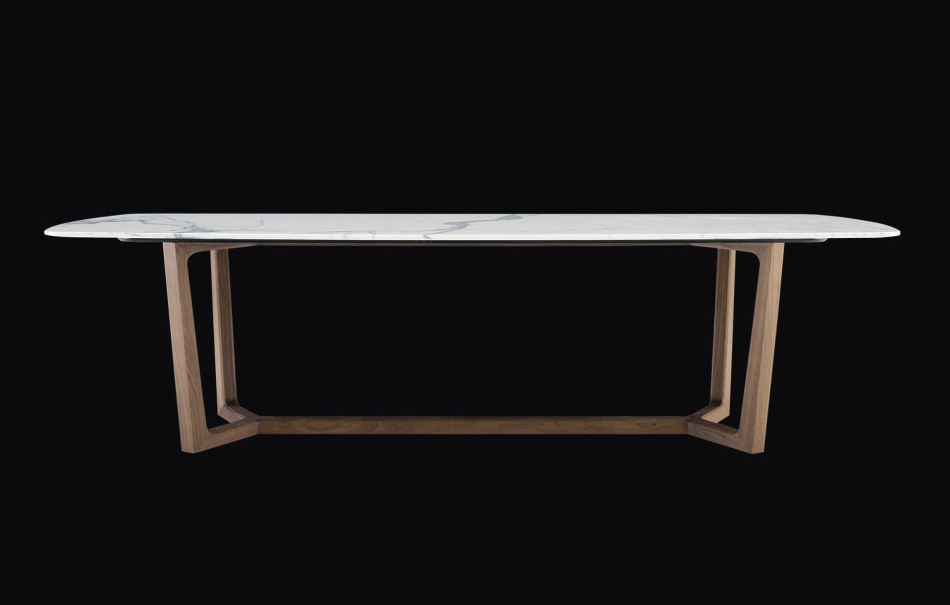 Concorde - tapa de marmol y base madera