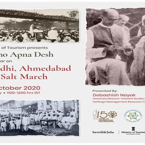 Dekho Apna Desh Webinar Series on Gandhi, Ahmedabad and Salt March""