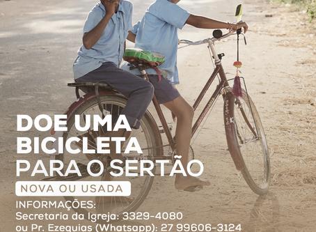 Doe uma bicicleta para o sertão