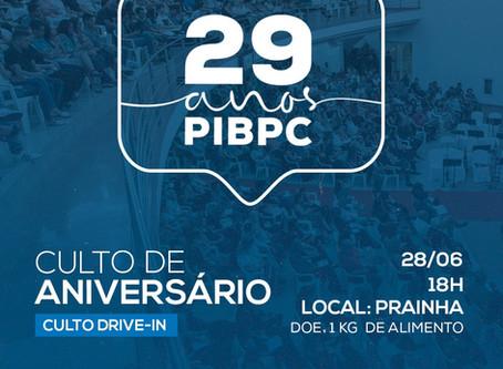 29 anos PIBPC