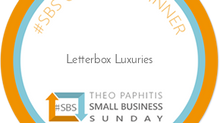 Letterbox Luxuries Small Business Sunday Winners!
