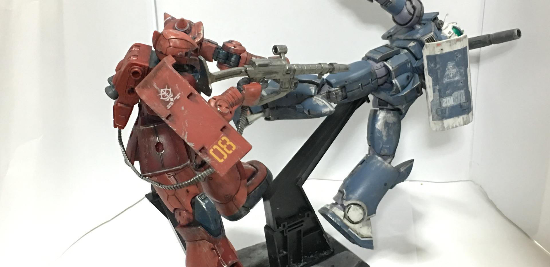オリジン シャア専用ザクⅠ&ガンキャノン最初期型