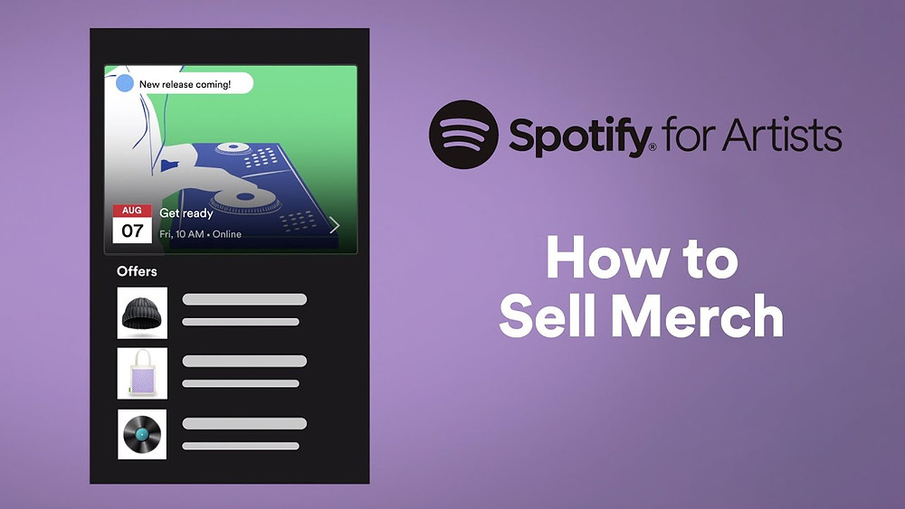 Sell Merch On Spotify