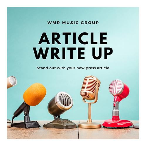 Artist Press Article Write Up
