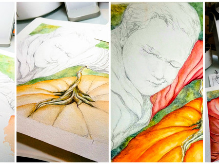 Watercolor process