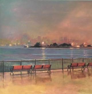Rain on Navy Pier by Brenda Hofbauer