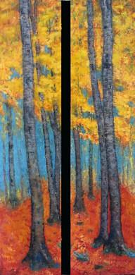 Tinkel's Birch Trees by Brenda Hofbauer