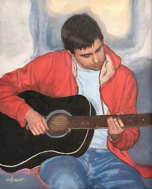 Nick & His Guitar by Brenda Hofbauer