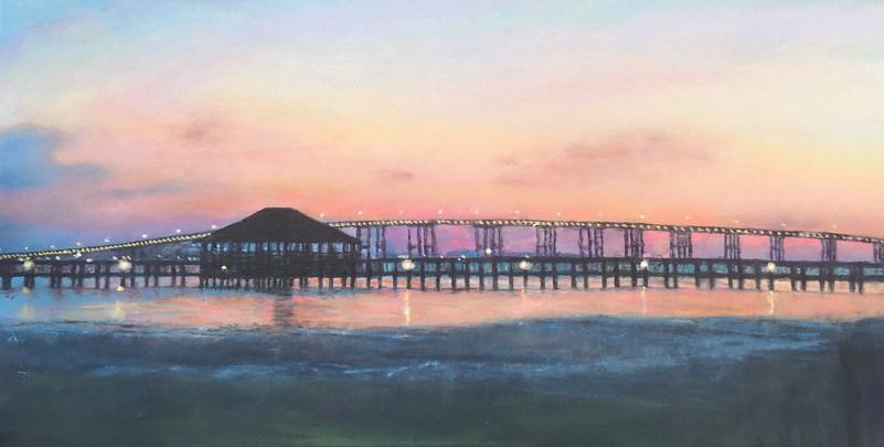 Biloxi Bay Sunset by Brenda Hofbauer