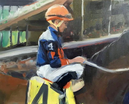 Riding #4 by Brenda Hofbauer