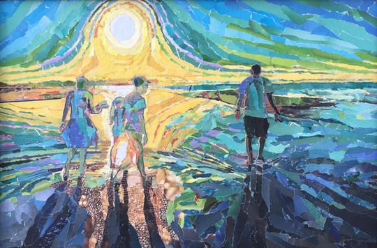Between the Beach and Sand Bar by Brenda Hofbauerby Brenda Hofbauer