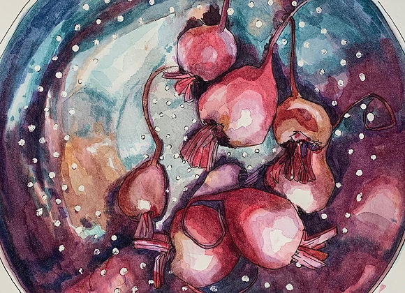 "Washing Beets 9""x9"""
