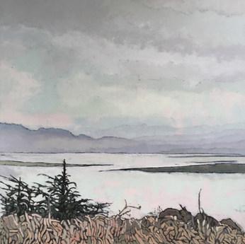 Misty Oregon Morning by Brenda Hofbauer