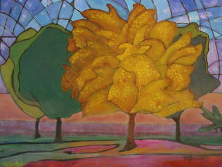 Ginko at Dawn by Brenda Hofbauer
