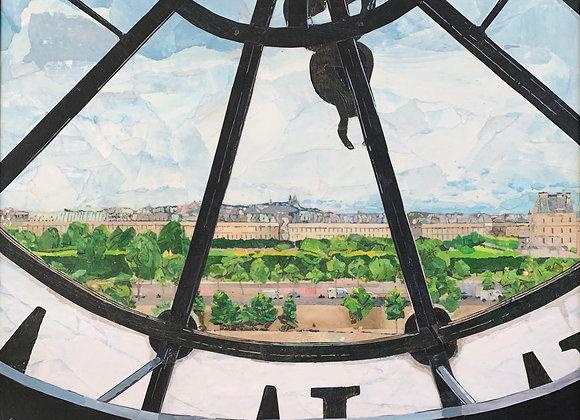 """Time for Paris  20""""x 20"""""""